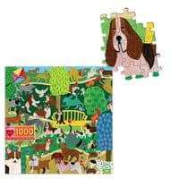 Dogs in the Park 1000 Pieces |Eeboo Jigsaw